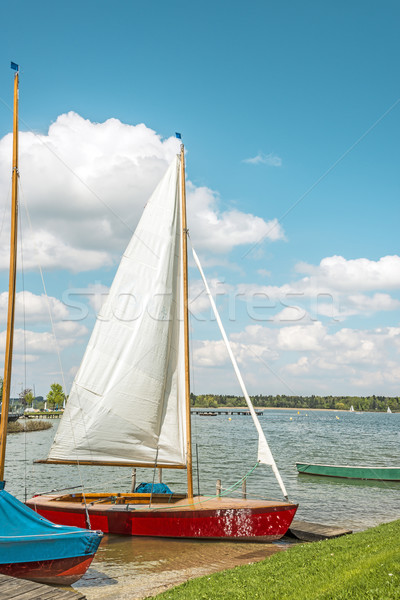 Red sport sailboat Stock photo © w20er
