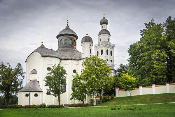 Bedevaart kerk foto Duitsland landschap kunst Stockfoto © w20er