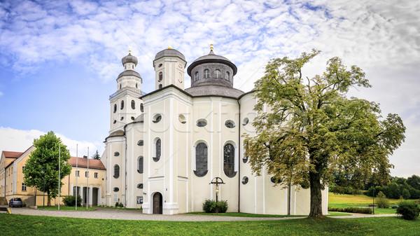 Bedevaart kerk panorama foto Duitsland landschap Stockfoto © w20er