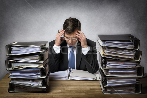 Overworked businessman Stock photo © w20er