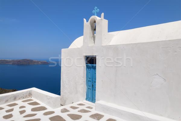 Templom Santorini kép sziget Görögország víz Stock fotó © w20er