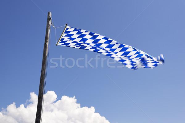 Integet zászló hegy égbolt textúra háttér Stock fotó © w20er