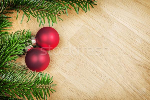 ágak karácsony dekoráció kép fából készült fa Stock fotó © w20er