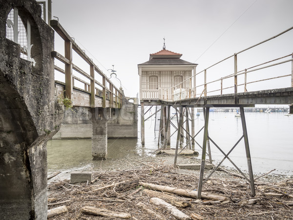 Dilapidated buildings Lake Bodensee in Germany Stock photo © w20er