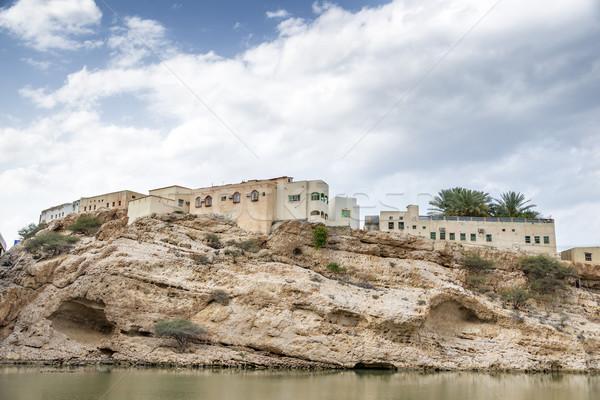 Stok fotoğraf: Köy · Umman · görüntü · Bina · sokak · arka · plan