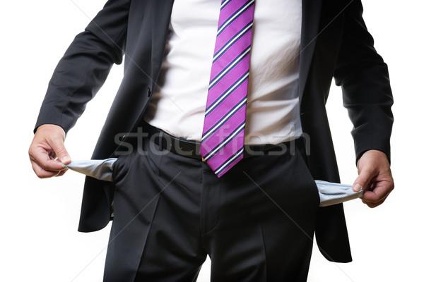 деловой человек пусто бизнесмен темно костюм галстук Сток-фото © w20er