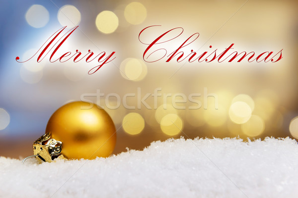 Golden bauble Merry Christmas Stock photo © w20er