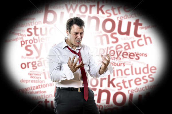 Man with burnout syndrome Stock photo © w20er