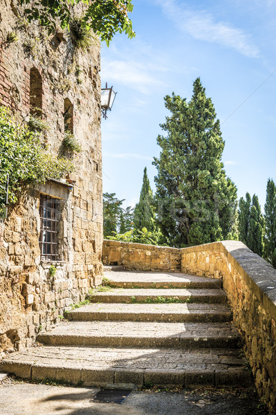 Stairs in Pienza Stock photo © w20er