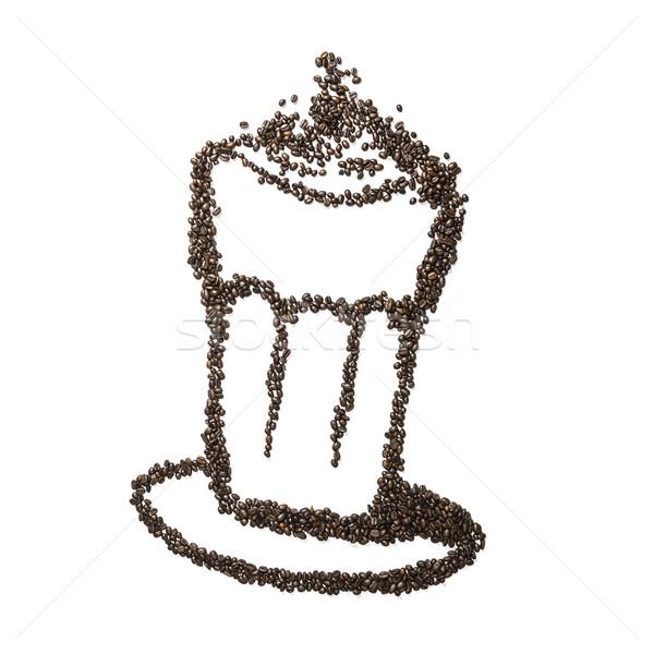 Coffee Bean Latte Macchiato Stock photo © w20er