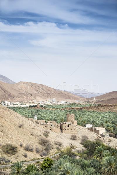 View fango immagine Oman cielo panorama Foto d'archivio © w20er