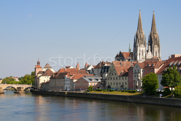 Cityscape Regensburg Stock photo © w20er