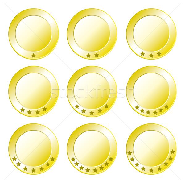 Icon set Quality seal Stock photo © w20er