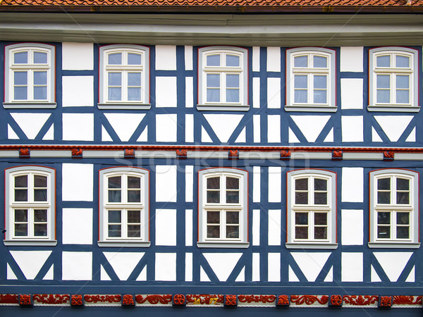 Facad half-timbered house in Duderstadt, Germany Stock photo © w20er