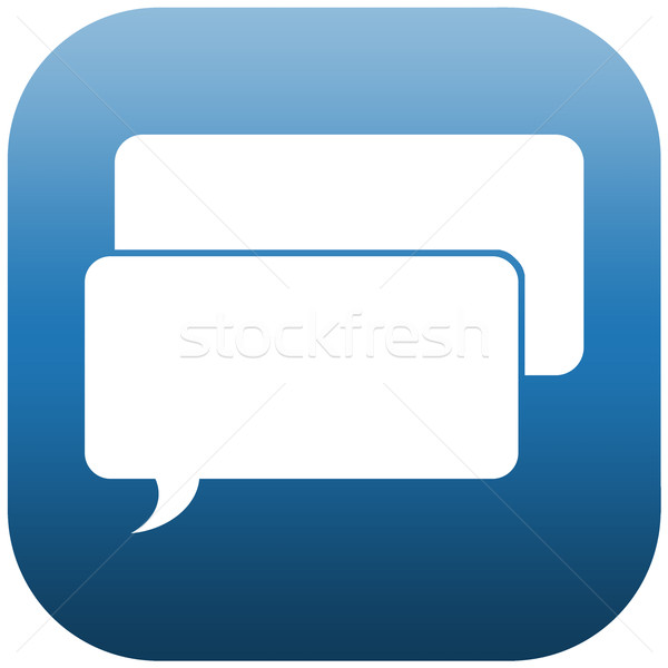 Blau Symbol Chat Blasen Illustration zwei Stock foto © w20er