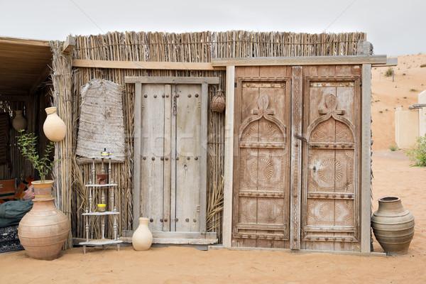 дверей пустыне лагерь Оман пейзаж песок Сток-фото © w20er