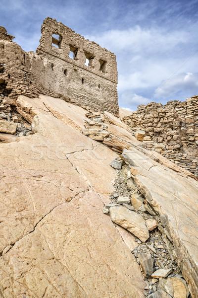 Ruiny błoto obraz skał Oman niebo Zdjęcia stock © w20er