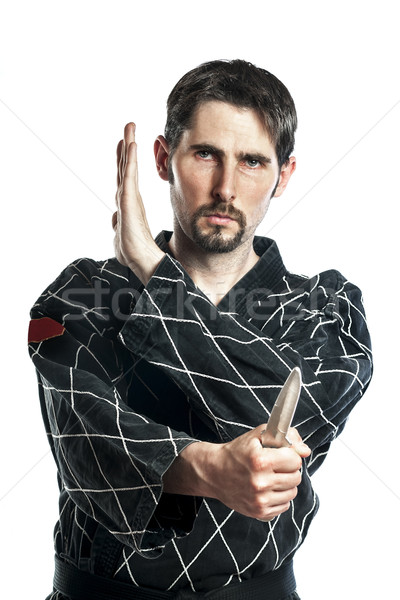 Self defense exercise with knife Stock photo © w20er