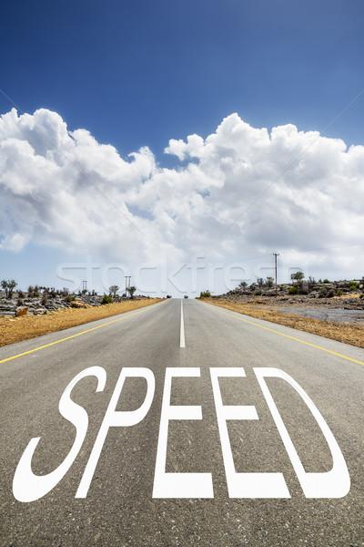 道路 文字 速度 画像 通り 塗料 ストックフォト © w20er
