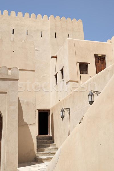 Fort afbeelding stad boom Blauw reizen Stockfoto © w20er