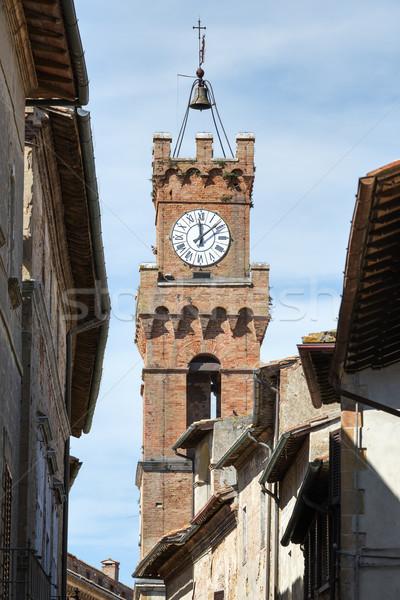 Tower city hall Pienza Stock photo © w20er