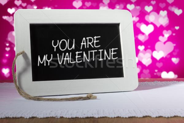 доске Валентин розовый изображение мелом сообщение Сток-фото © w20er