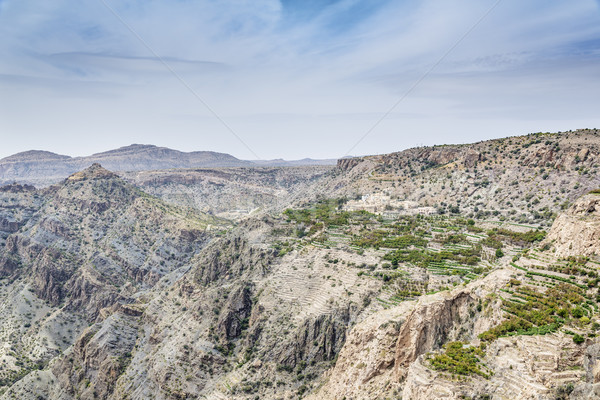 Umman plato köy görüntü manzara yol Stok fotoğraf © w20er