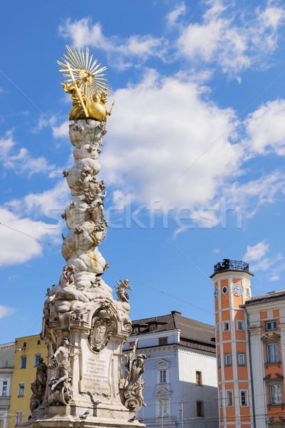 Hole Trinity Column Linz Stock photo © w20er