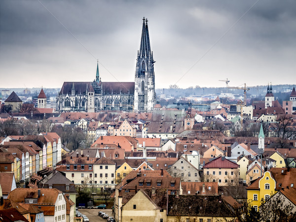 Cathedral Regensburg Stock photo © w20er