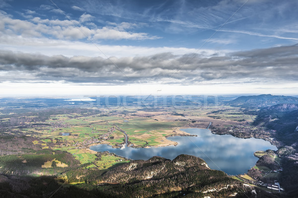 View from Herzogstand to Kochelsee Stock photo © w20er