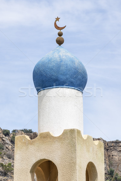 Mesquita planalto Omã estrada natureza Foto stock © w20er
