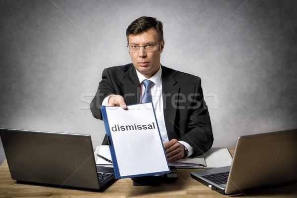 Patron oturma büro ofis iş dizüstü bilgisayar Stok fotoğraf © w20er