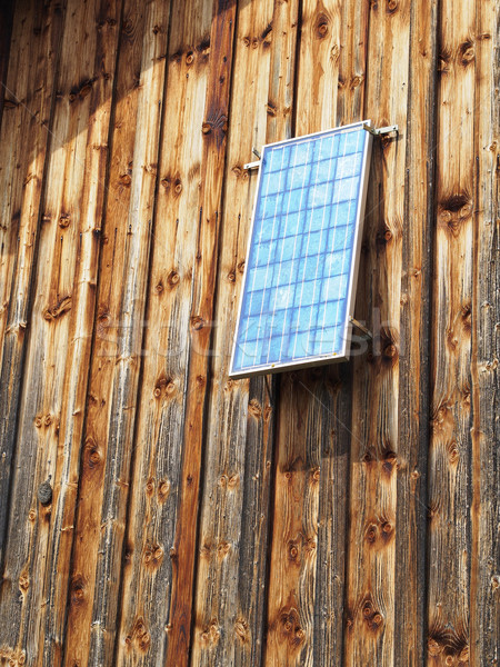 Solar panel barn Stock photo © w20er