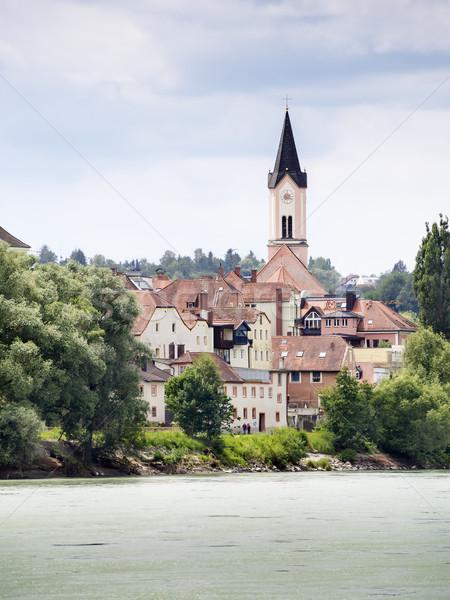 Iglesia imagen río posada agua casa Foto stock © w20er