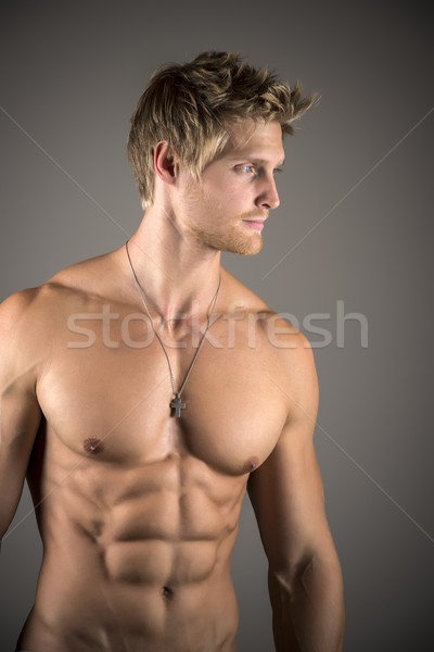 Blond athetic man Stock photo © w20er