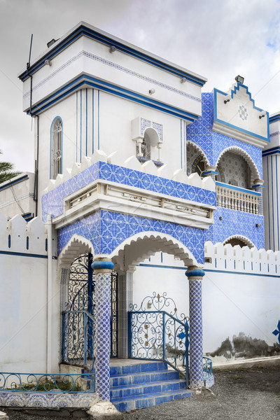 Bina Umman mavi mozaik fayans gökyüzü Stok fotoğraf © w20er