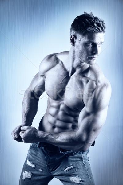 Pózol test építész fiatal kút képzett Stock fotó © w20er