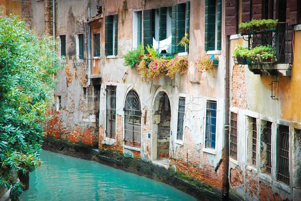 Narrow alley in Venice Stock photo © w20er