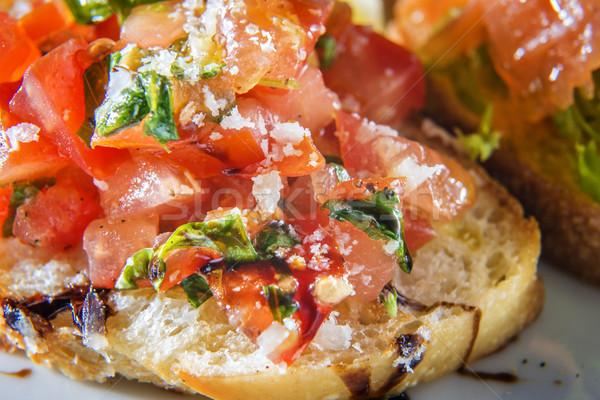 Close-up tomatoe bruschetta Stock photo © w20er