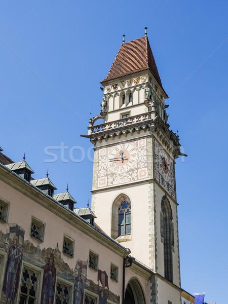 Város előcsarnok kép Németország nyár épület Stock fotó © w20er