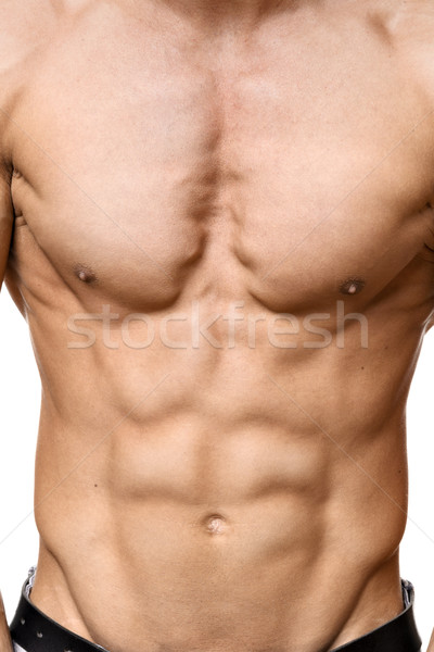 Abdominal muscle of young man Stock photo © w20er