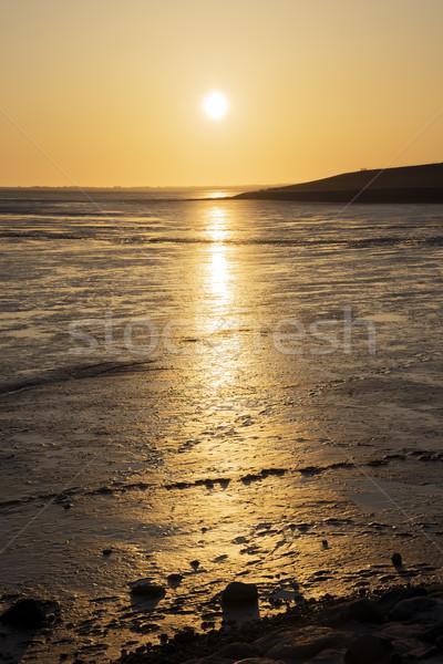 Sunset Wadden Sea Stock photo © w20er