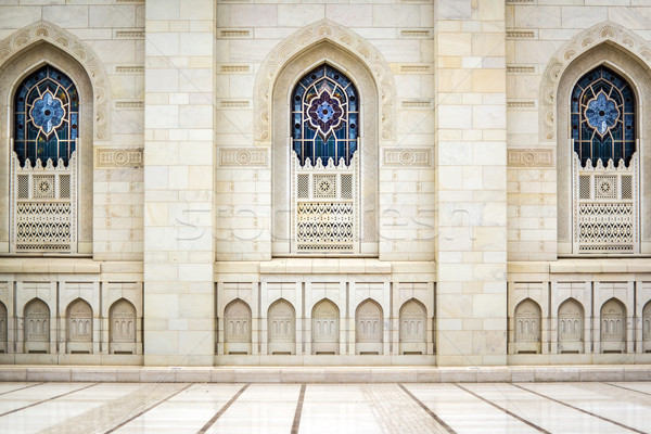 Windows Grand Sultan Qaboos Mosque Stock photo © w20er