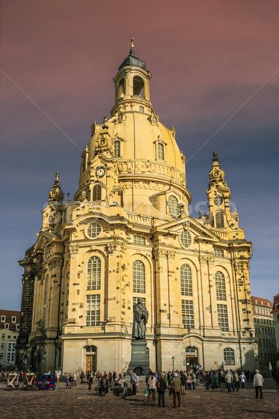 Church 'Frauenkirche' Dresden Germany Stock photo © w20er