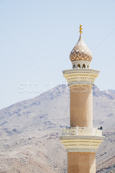 Minaret mosque Nizwa Stock photo © w20er