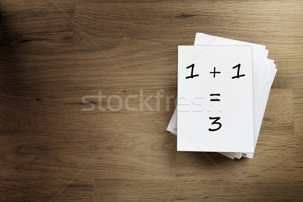 one plus one equals three Stock photo © w20er