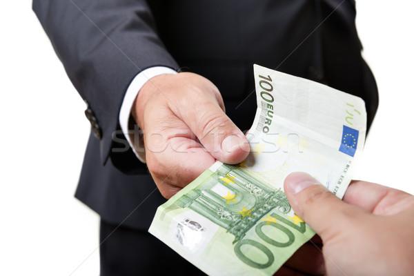 Zakenman Bill donkere pak business papier Stockfoto © w20er
