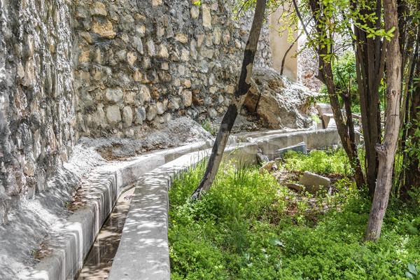 Omán meseta agua entrega imagen carretera Foto stock © w20er