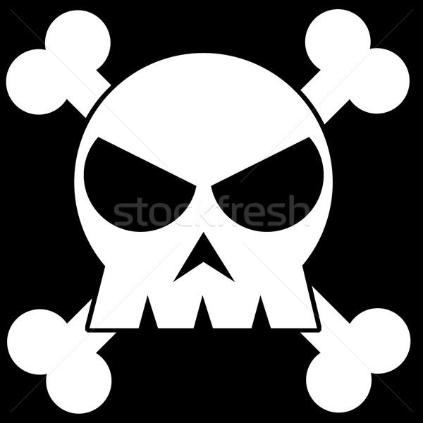 実例 頭蓋骨 黒白 クロス 背景 にログイン ストックフォト © w20er