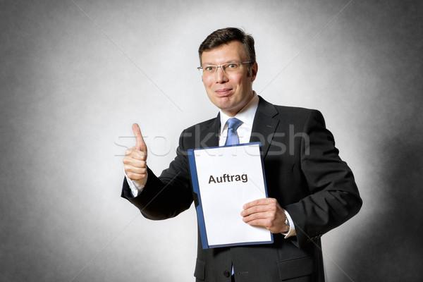 ビジネスマン 契約 画像 幸せ ビジネスマン 親指 ストックフォト © w20er